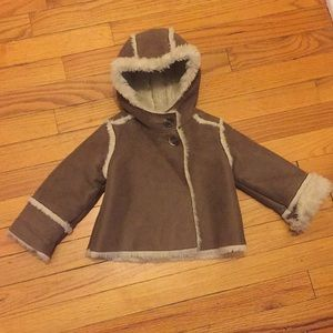 Baby Gap Hooded Foil Faux Shearling Coat jacket
